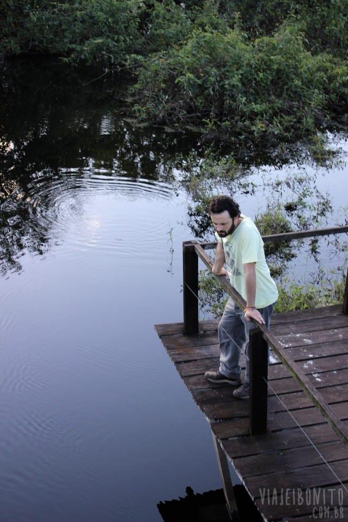 Deck na Trilha do Carandá durante Safari pela Fazenda San Francisco, em Miranda, Mato Grosso do Sul