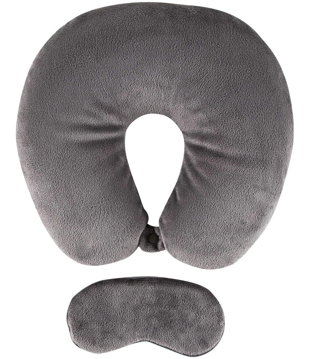 Travesseiro de pescoço e máscara de dormir formam uma dupla imbatível para o descanso do viajante
