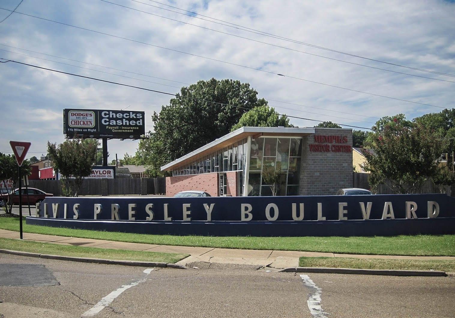 Elvis Presley Boulevard em Memphis
