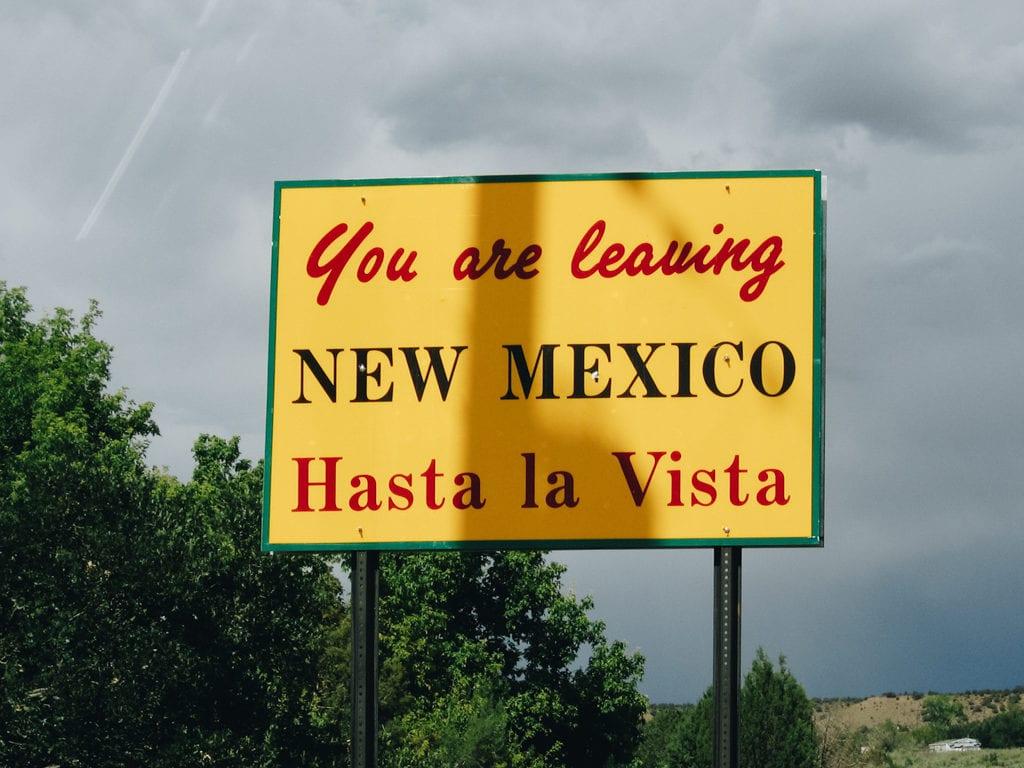 Hasta la vista, baby. Novo México. Estados Unidos