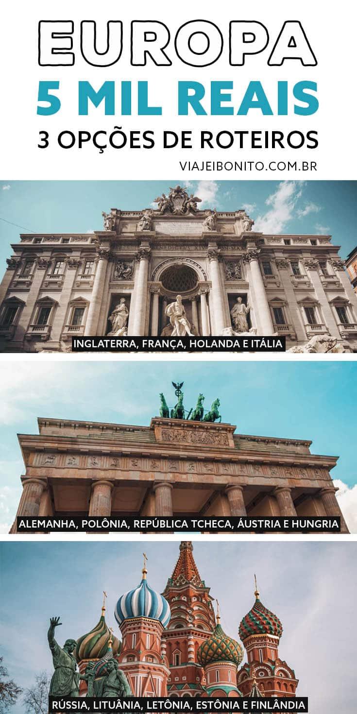 Mochilão na Europa com até 5 mil reais. 3 opções de roteiros. Créditos: Unsplash