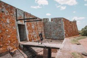 Ponte levadiça do Forte de San Miguel, em Chuy, Uruguai